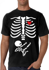 Pregnant Ninja Skeleton Men's T-Shirt