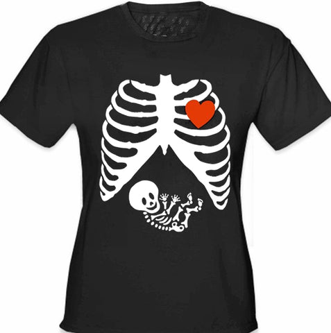 Pregnant Skeleton Women's T- Shirt