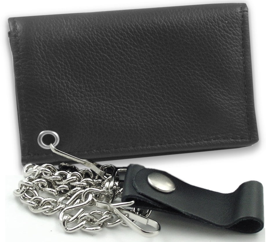 Premium Luxury Leather Chain Wallet