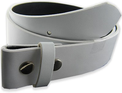Premium White Leather Belt
