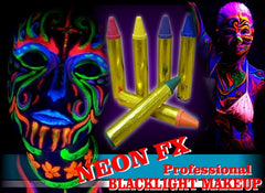 Black Light Reactive Face & Body Jumbo Makeup Sticks (Set of 6)