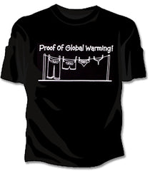 Proof Of Global Warming Girls T-Shirt