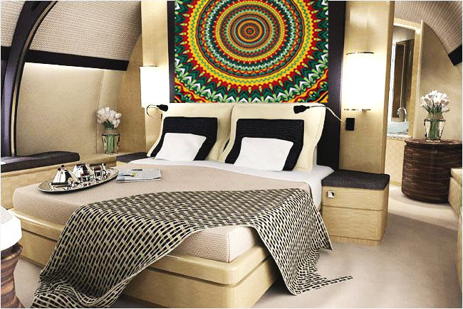 Psychedelic Pot Leaf Wall Tapestry and Bed Spread