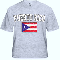 Puerto Rico Vintage Flag International Mens T-Shirt