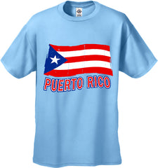 Puerto Rico Vintage Flag Waving Men's T-Shirt