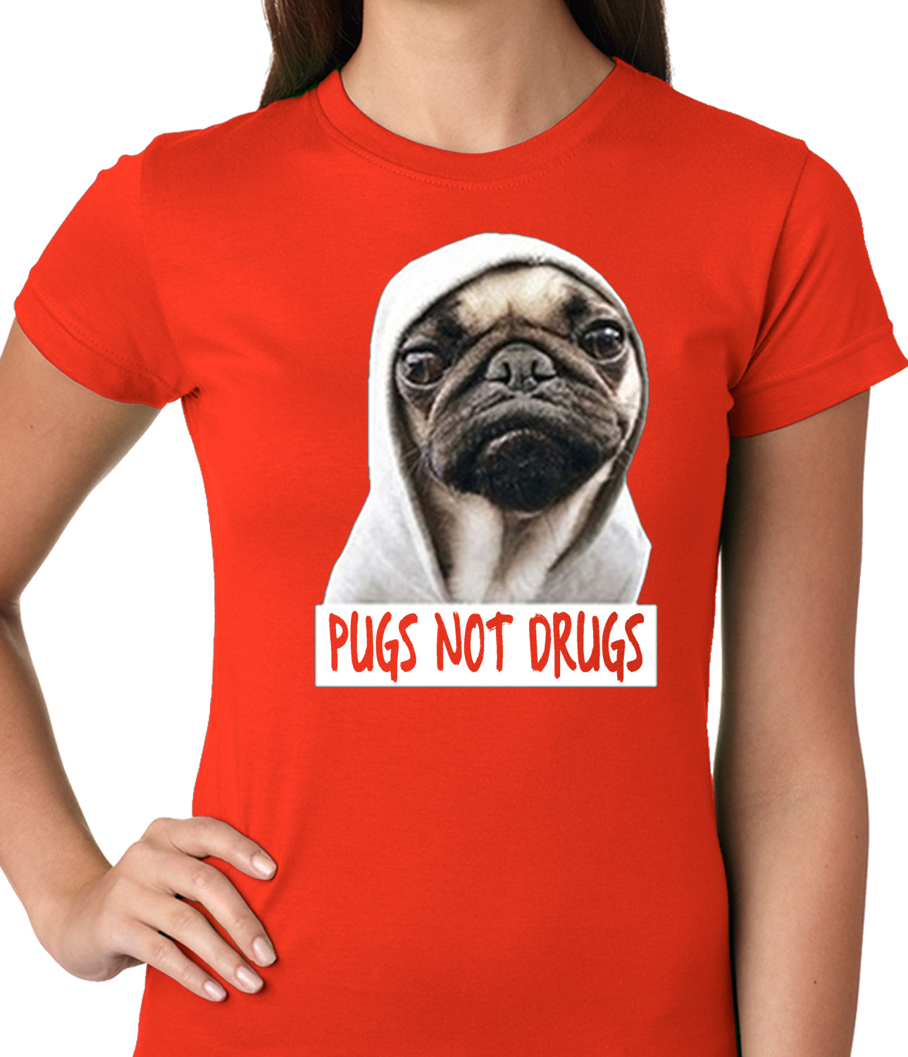 Pugs Not Drugs Girls T-shirt