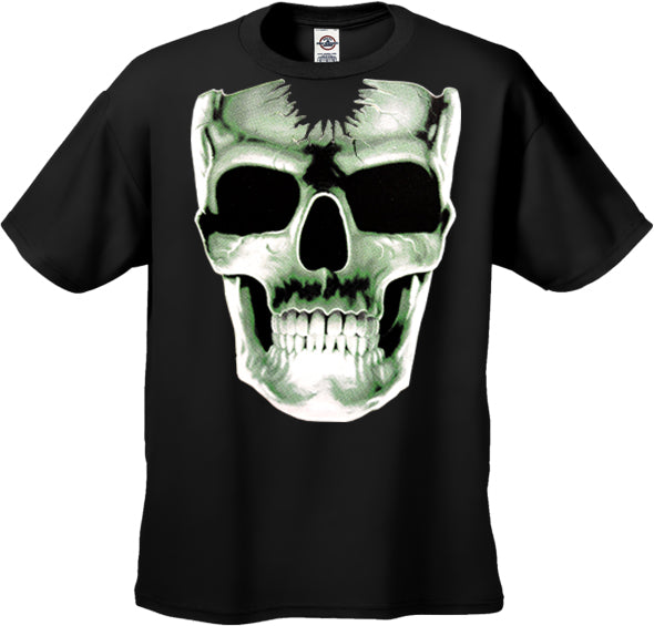 Radioactive Glowing Skull Kids T-Shirt (Black)