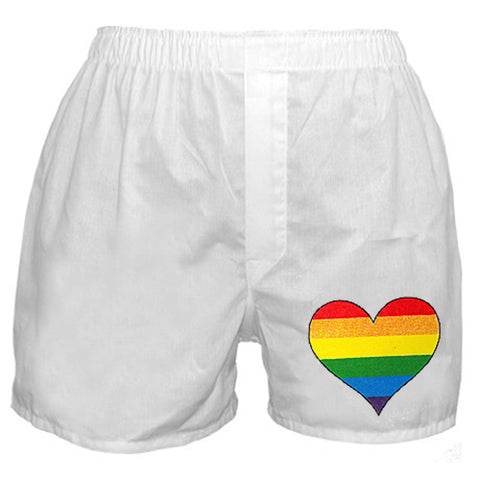 Rainbow Heart  Boxer Shorts