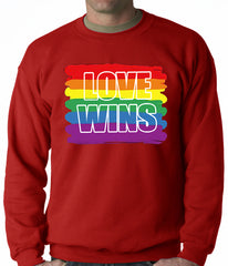 Rainbow Love Wins Gay Marriage Equality Adult Crewneck