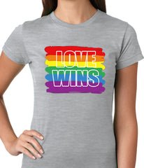 Rainbow Love Wins Gay Marriage Equality Ladies T-shirt