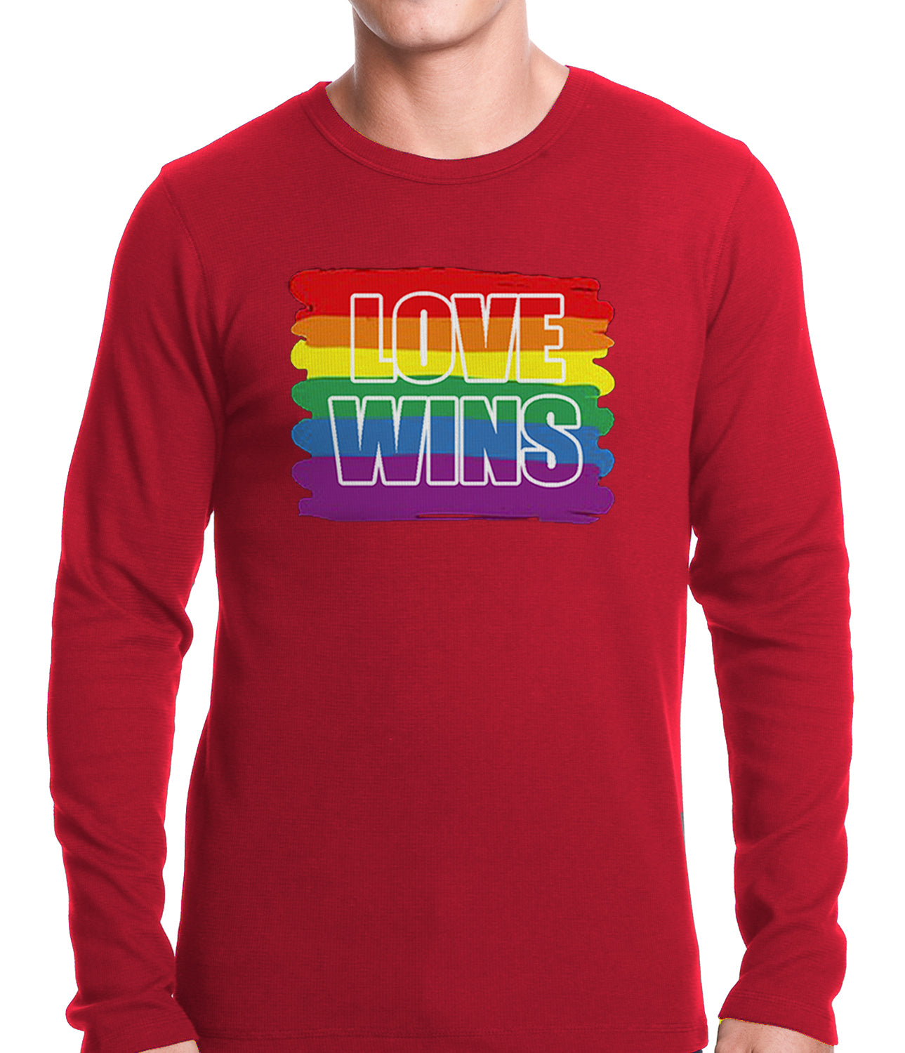 Rainbow Love Wins Gay Marriage Equality Thermal Shirt