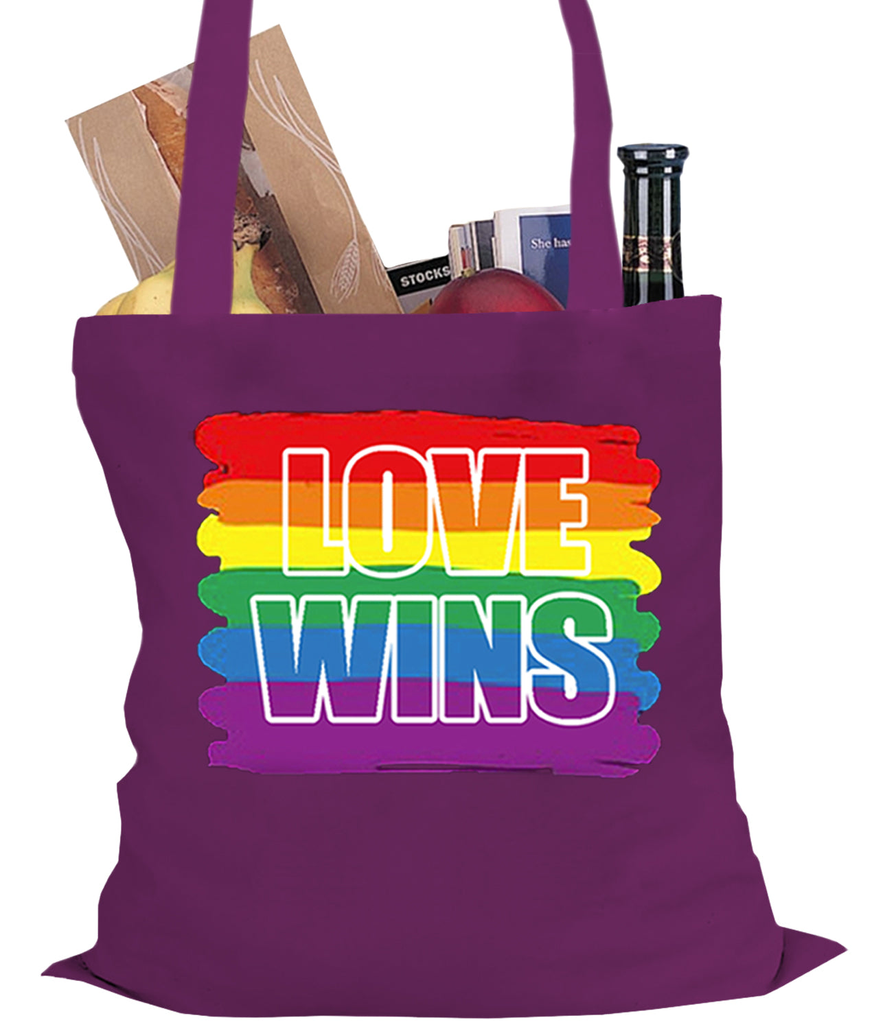 Rainbow Love Wins Gay Marriage Equality Tote Bag
