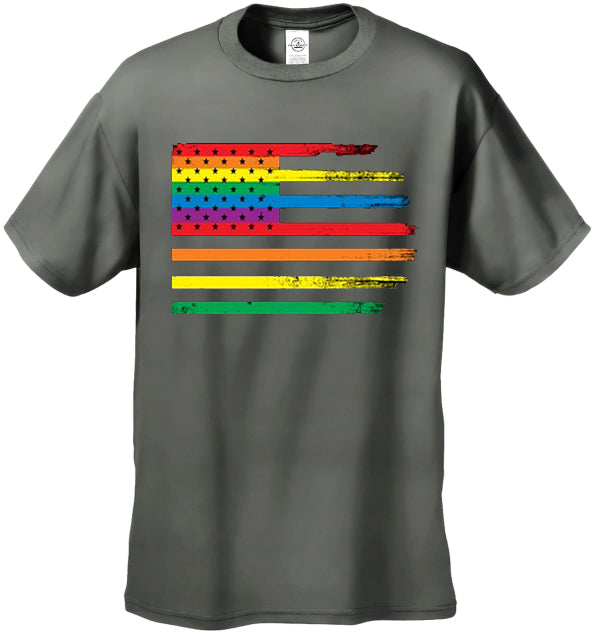 Rainbow Pride American Vintage Flag Men's T-Shirt