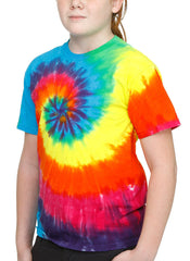 Rainbow Spiral Tie Dye Toddler T-shirt