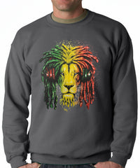 Rasta Colored Lion Crewneck