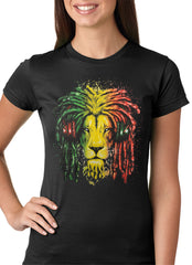 Rasta Colored Lion Girls T-shirt