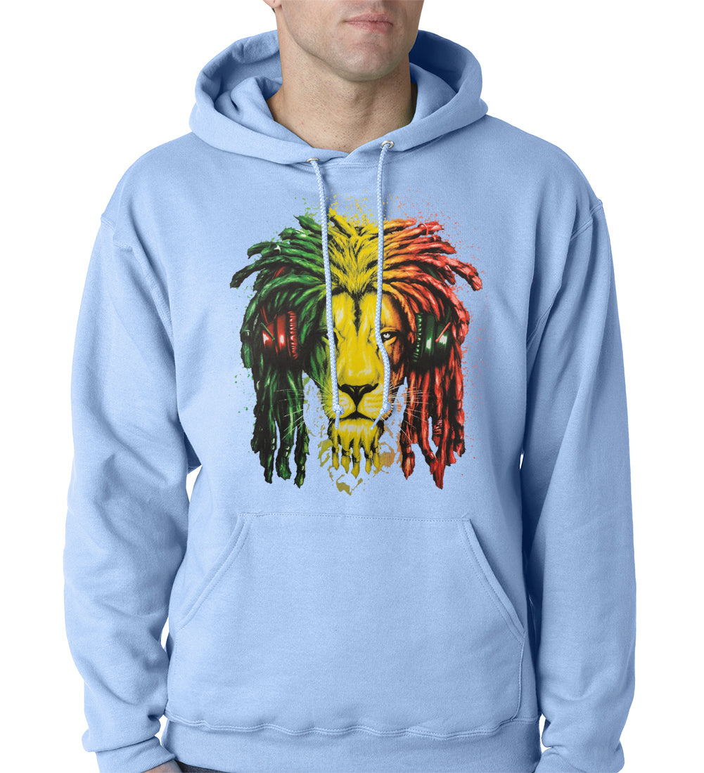 Rasta Colored Lion Hoodie