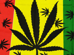 Rasta Leaves Fine Wall Tapestry