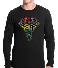 Rasta Pot Leaf Diamond Thermal Shirt