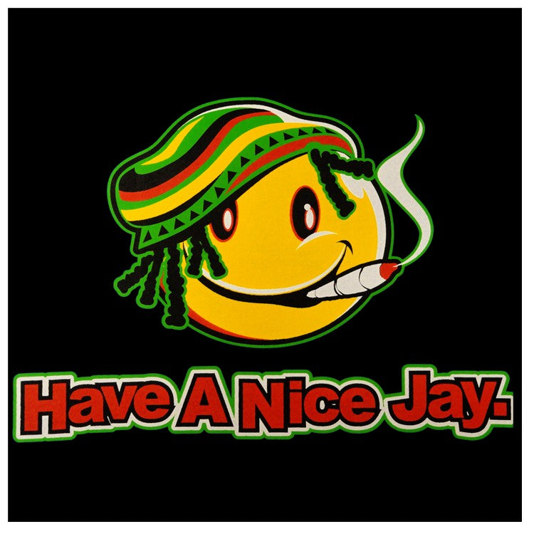 Rasta Smiley Sweatshirt - Have a Nice Jay Hoodie