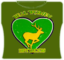 Real Women Drive Tractors T-shirts