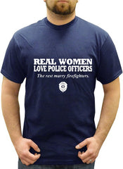 Real Women Love Police Officers Men's T- Shirt