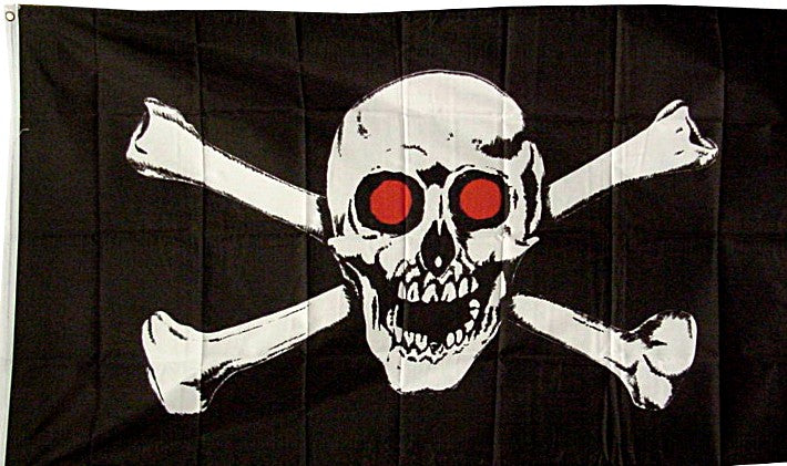 Red Eye Skull  Flag