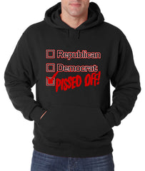 Republican, Democrat, PISSED OFF! Adult Hoodie