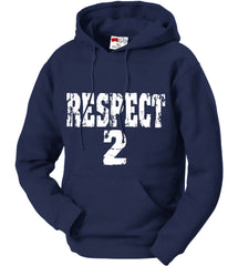 RESPECT 2 Jeter Baseball Adult Hoodie (Navy Blue)