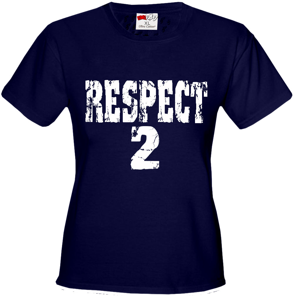 RESPECT 2 Jeter Baseball Girls T-shirt (Navy Blue)