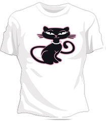 Retro Kitty Girls T-Shirt