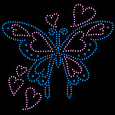 Rhinestone Butterfly Girls T-Shirt