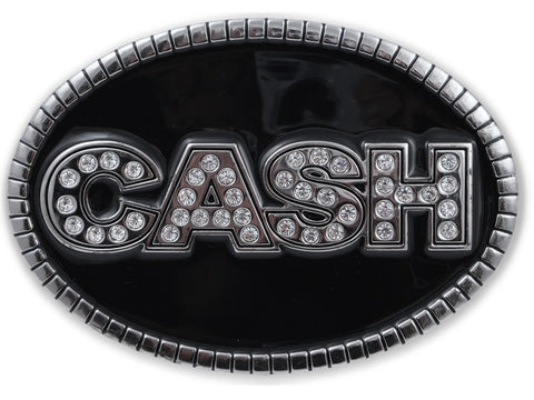 Rhinestone Cash Belt Buckle With FREE Leather Belt