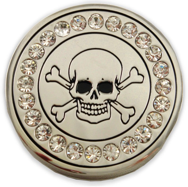 Rhinestone Skull Stash Buckle With FREE Leather Belt