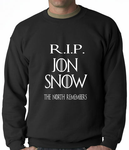RIP Jon Snow - The North Remembers Adult Crewneck