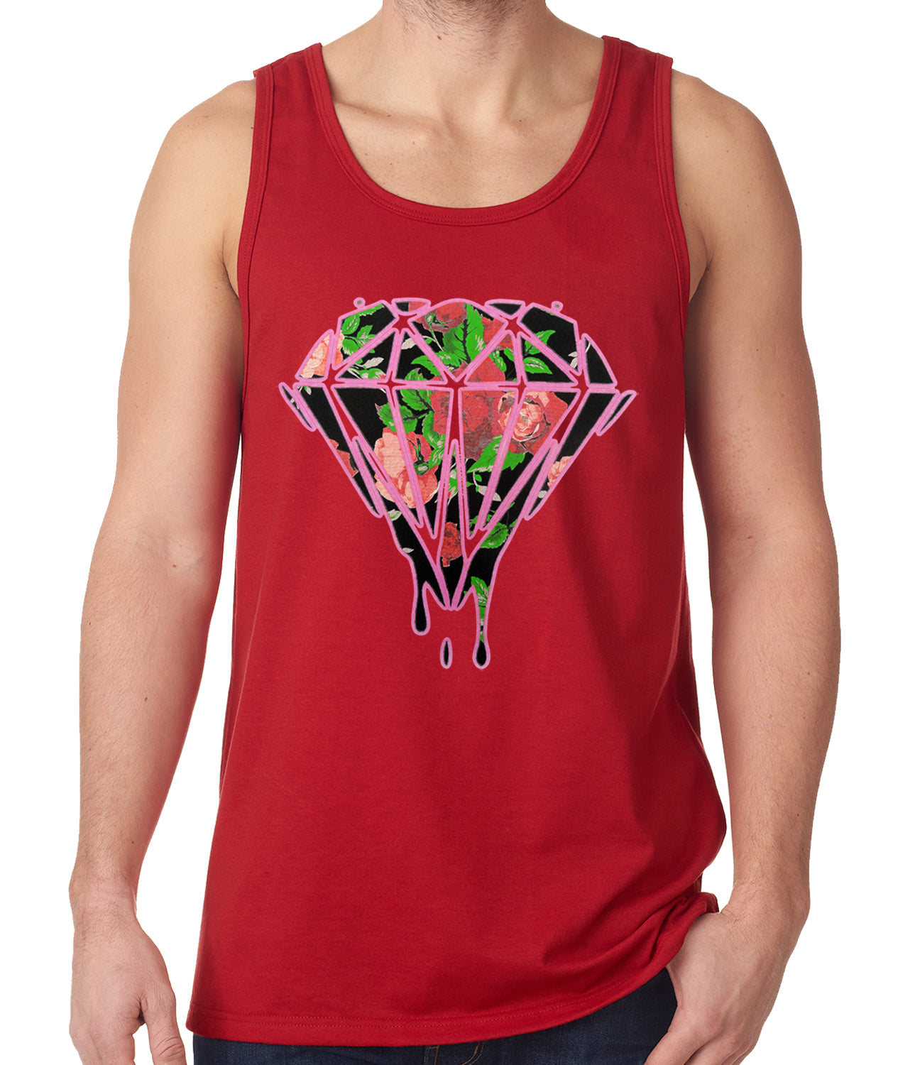 Roses Dripping Diamond Tank Top