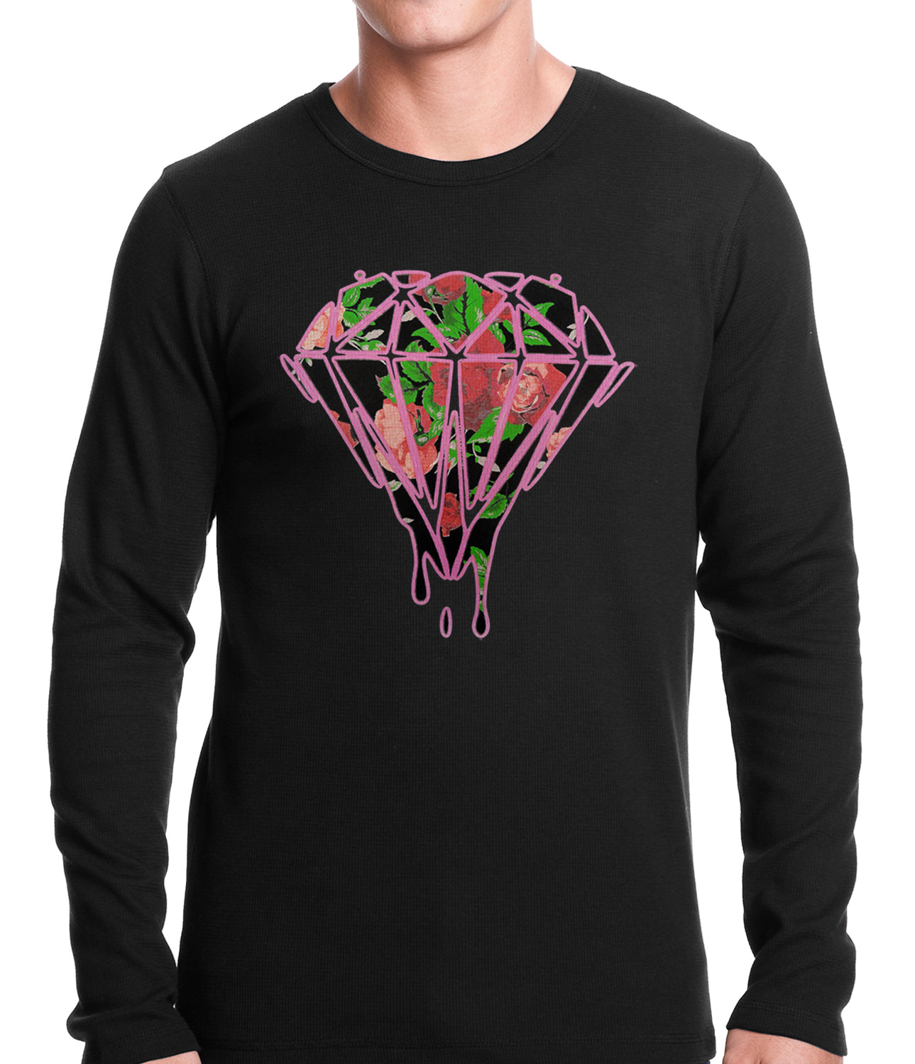Roses Dripping Diamond Thermal Shirt