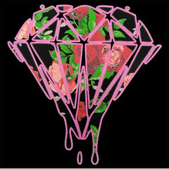 Roses Dripping Diamond Mens T-shirt