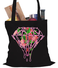 Roses Dripping Diamond Tote Bag