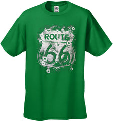 Route 66 Sign with Bullet Holes Men's T-Shirt