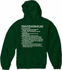 Rules For Dating My Son Adult Hoodie