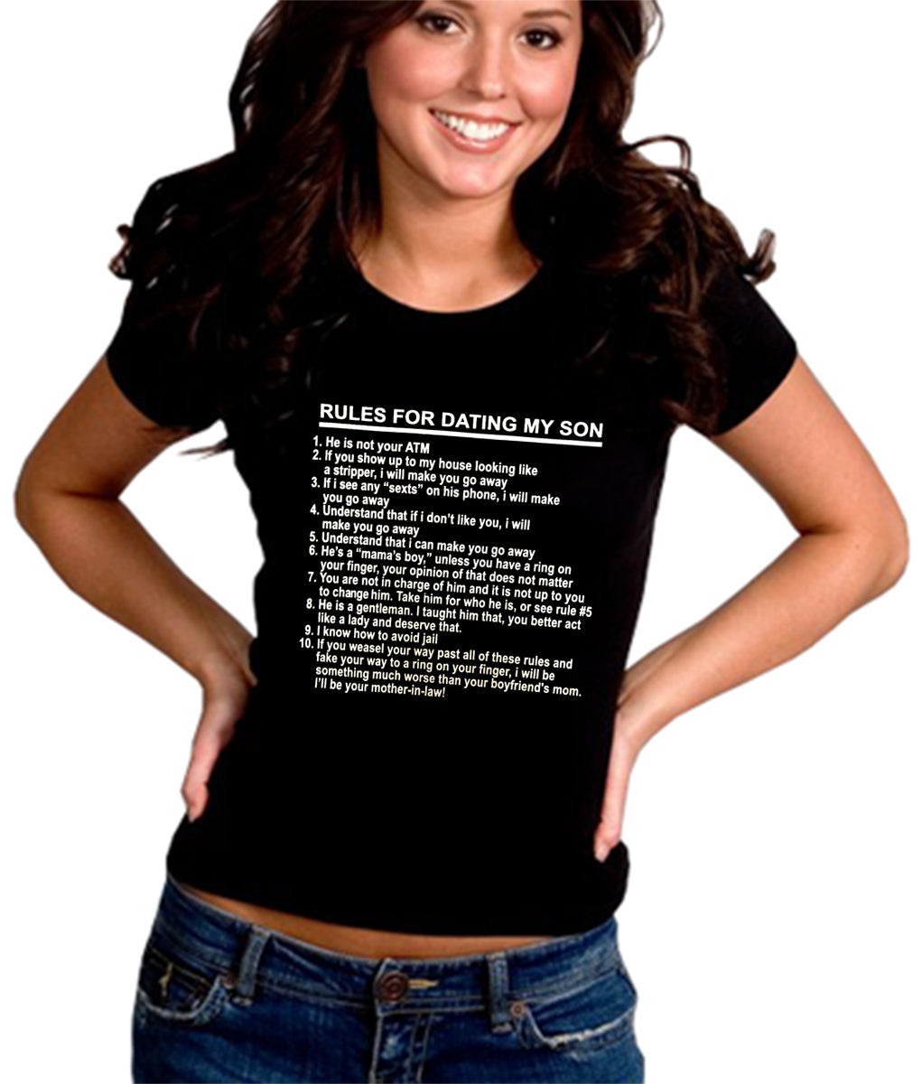 Rules For Dating My Son Girl's T-Shirt