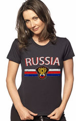 Russia Vintage Shield International Girls T-Shirt