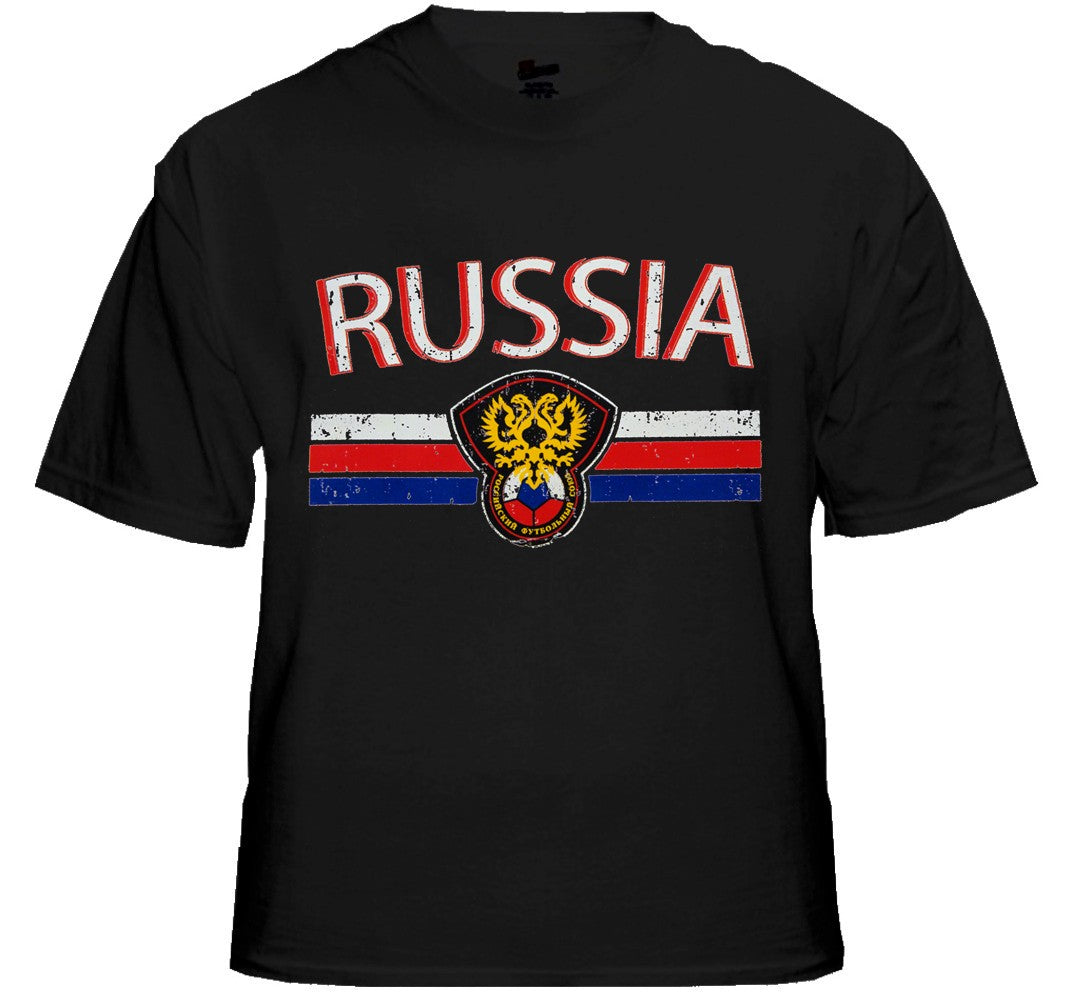 Russia Vintage Shield International Mens T-Shirt
