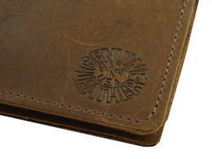 "Rustic Brown Leather 6"" Biker Chain Wallet"