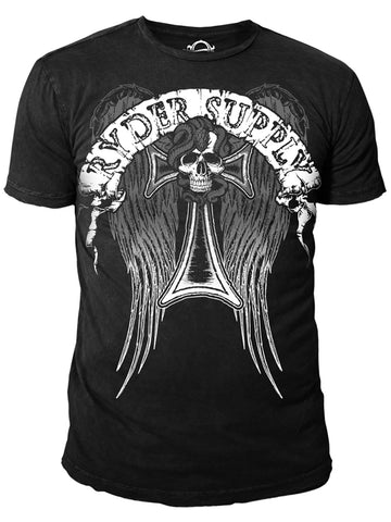 Ryder Supply Clothing - Angel Mens T-shirt (Black)