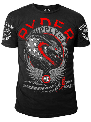 Ryder Supply Clothing - Bite Mens T-shirt (Black)
