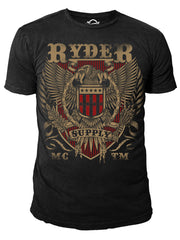 Ryder Supply Clothing - Eagle Mens T-shirt (Black)