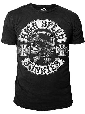 Ryder Supply Clothing - Junkies Mens T-shirt (Black)