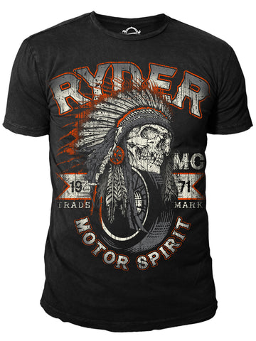 Ryder Supply Clothing - Navajo Mens T-shirt (Black)